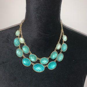 Aqua blue necklase